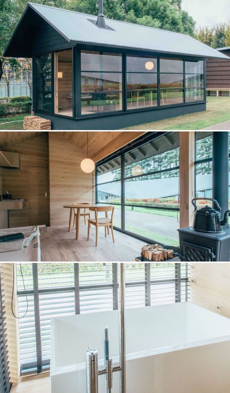 Prefab Minimalist Housing By The Muji Brand The Muji Hut Of Wood By Designer Naoto Fukasawa This One Comes With A Japanese Small House Prefab Homes Muji Hut