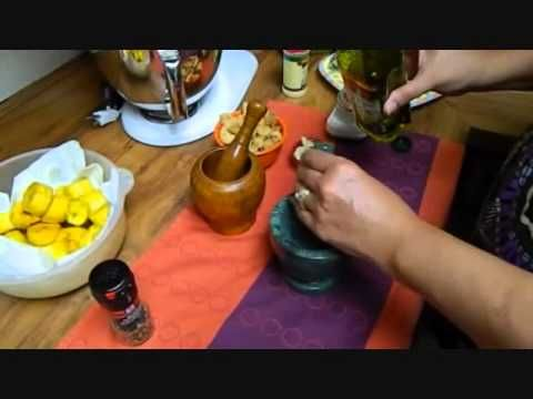 Mofongo. It's a traditional puerto rican dish. Just a few ingredients for a yummy dish.