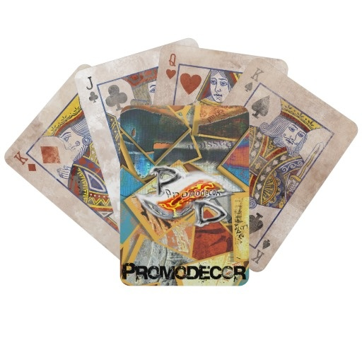 baraja Poker/ Estilo Retro collage promodecor Cartas De Juego