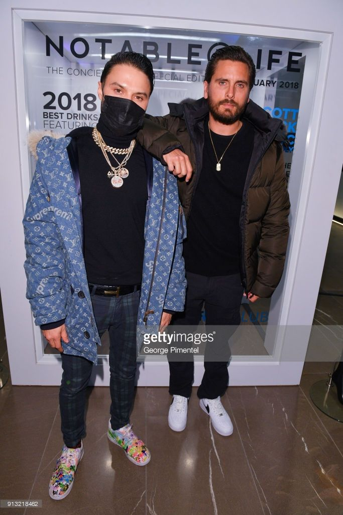 d9c1772a2b7 Alec Monopoly and Scott Disick celebrate The 5 year Anniversary Of The  Concierge Club at The Globe and Mail Centre on February 1
