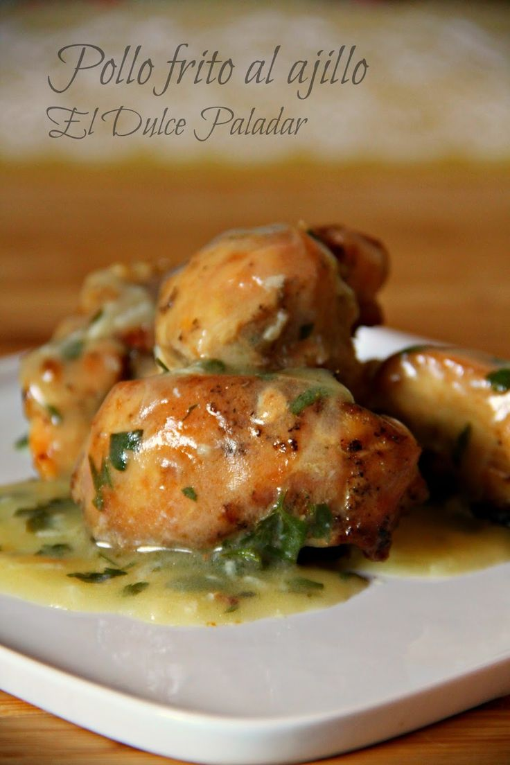 El dulce paladar: Pollo frito al ajillo