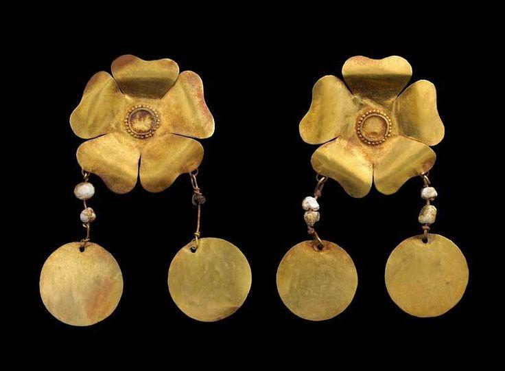 First Century Golden Earrings - Afghanistan