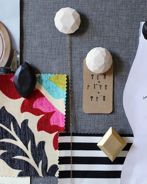 DIY Plaster Gem Push Pins via @Design*Sponge