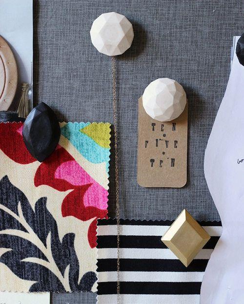 DIY Plaster Gem Push Pins via @Design*Sponge