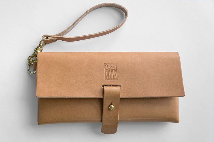 handmade leather bag - The Holland Clutch