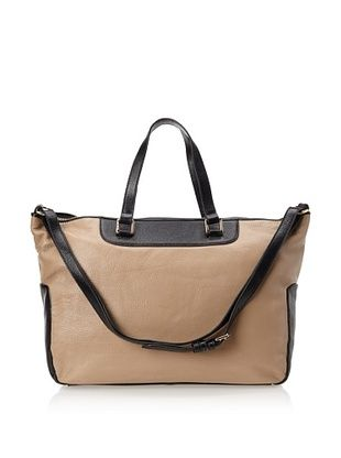 60% OFF Zenith Women's Convertible Satchel, Beige/Black