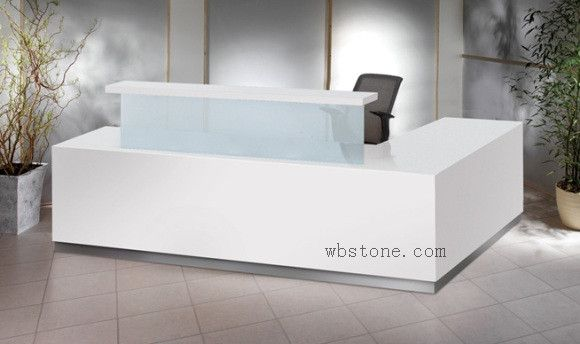L Shape White Office Reception Counter Re051 Reception Desk Office Furniture Reception Desk Office Reception Counters