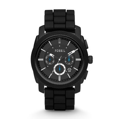 Montre Machine chronographe en silicone - Noir