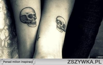 Matching Skull tattoos with the husband