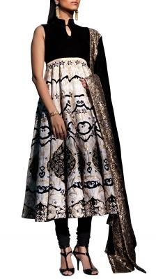 16 Panel Embroidered Anarkali Suit | Strandofsilk.com - Indian Designers
