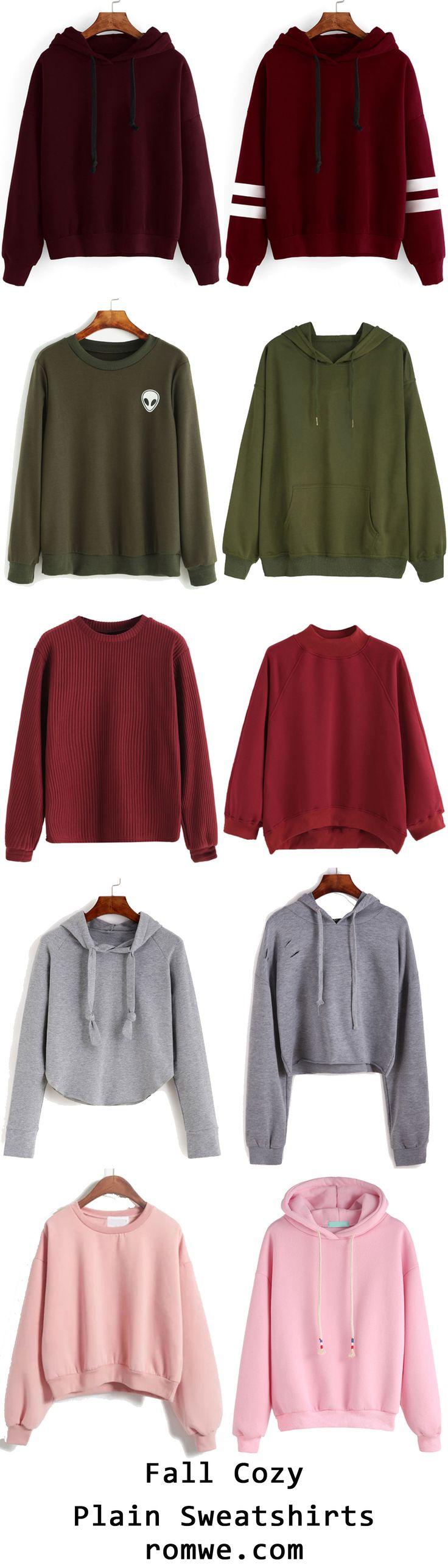 Cool Plain Sweatshirts from romwe.com