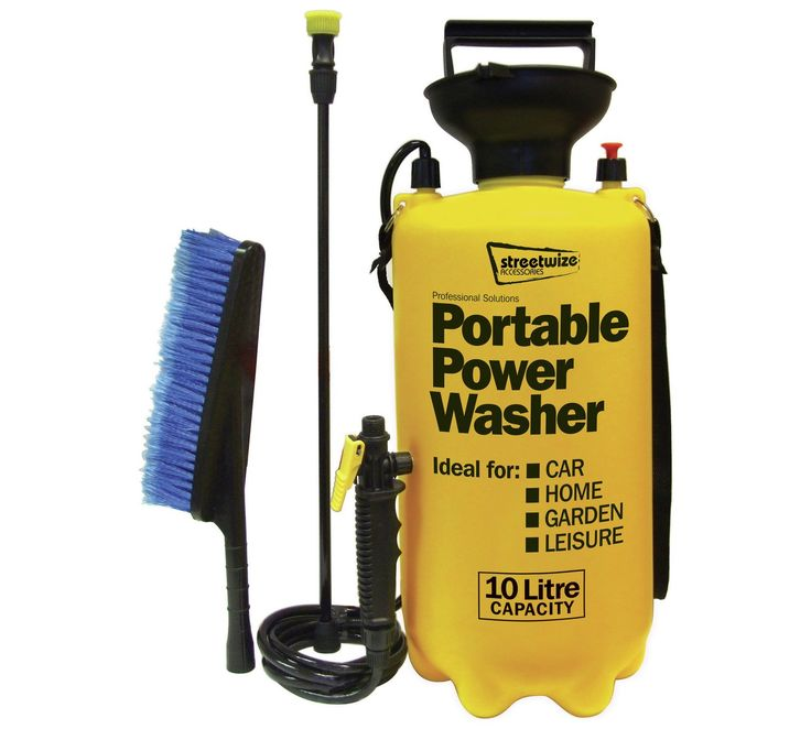 Buy Streetwize 10 Litre Portable Power Washer at Argos.co.uk - Your Online Shop for Car cleaning, Car maintenance, Car equipment and accessories, Sports and leisure.