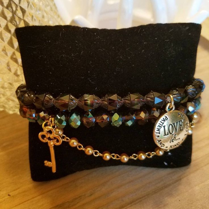Vintage Czech  faceted Crystal and Chinese faceted crystals in amenthyst with…