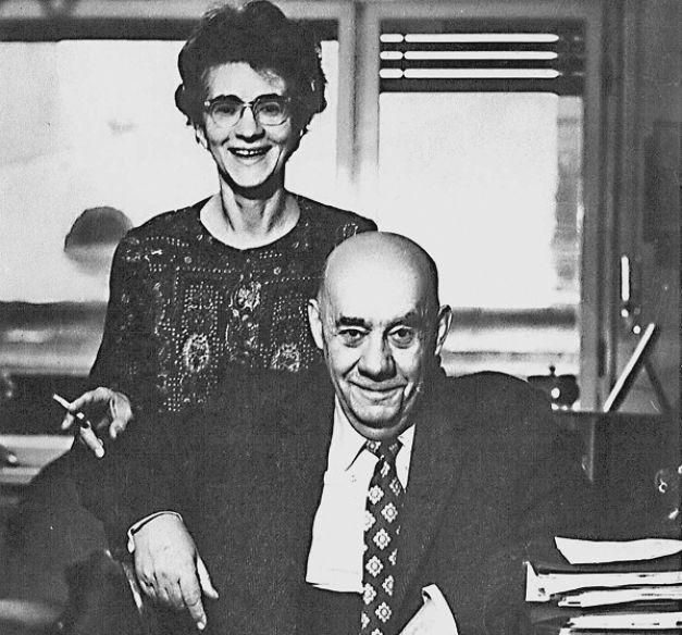 Viorica şi Grigore Moisil, ultima fotografie împreună înainte de plecarea în Canada