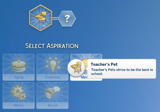 Mod The Sims: Teacher's Pet Aspiration by jackboog21 • Sims 4 Downloads