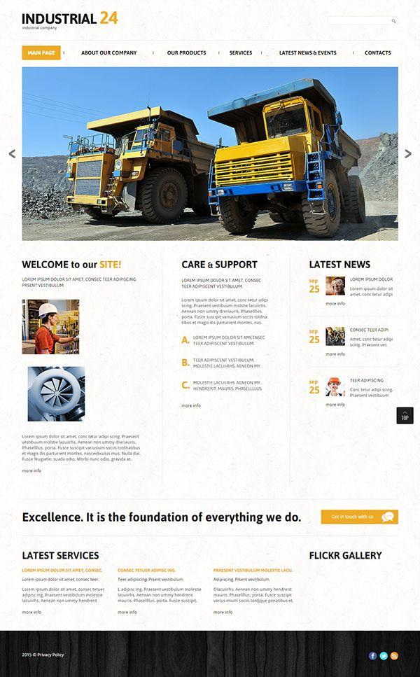 Industrial Company Joomla Template