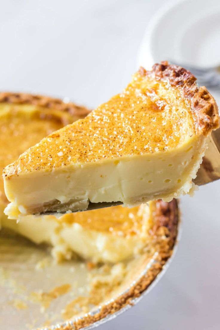 Egg Custard Pie In 2020 Custard Pie Egg Custard Pie Homemade Pie Recipes