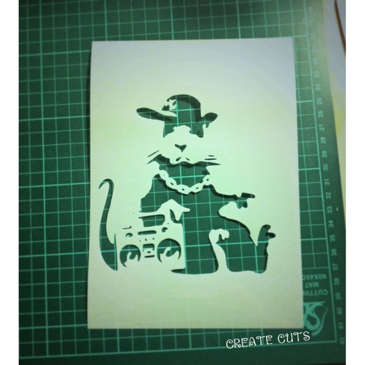 Banksy Gangsta Rat reusable stencil