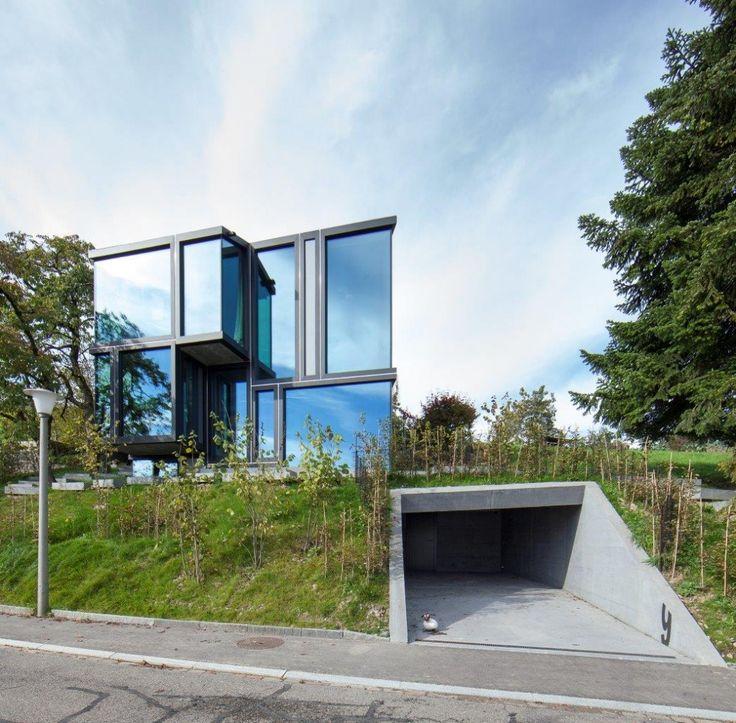 Atemberaubendes Einfamilienhaus am Hang #architektenhaus ...