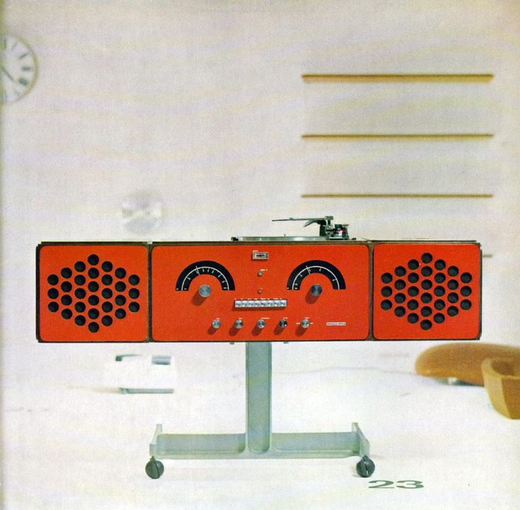 Detail from the pages of Domus 442 / September 1966, a stereo radio-turntable, 1963