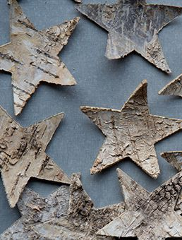 birch bark stars #woodlandchristmas ... what can't ya make of Birch Bark ... I LOOOOOOVE Birch Bark!! <3