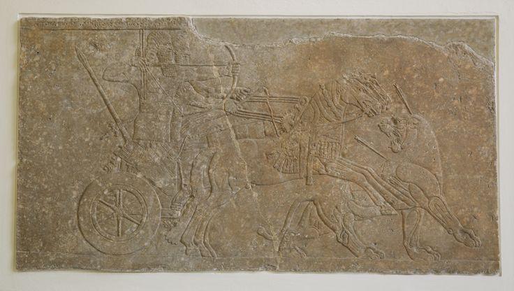 Assurnasirpal II caçando leões
