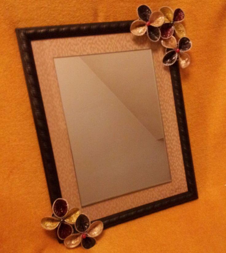 Espejo de decorado con cápsulas Nespresso