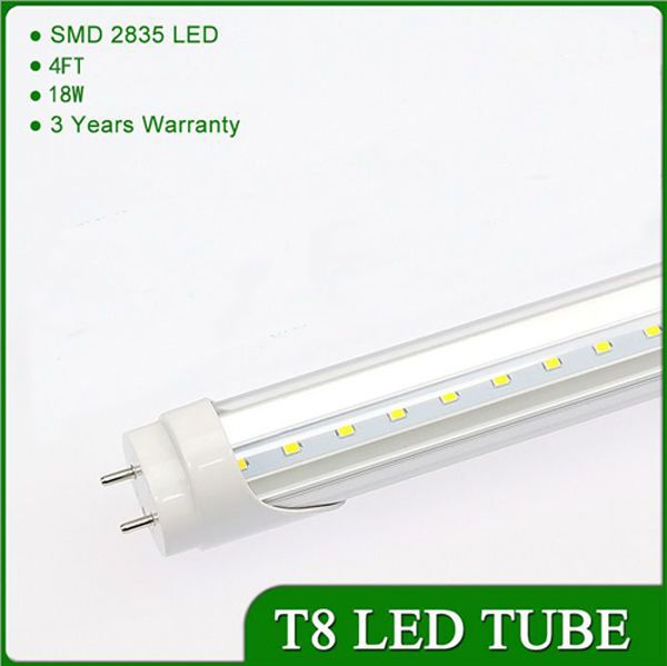 10/25PC 18W 4ft Cool White  T8 LED Bulb Tube Light Fluorescent Replacement Lamp