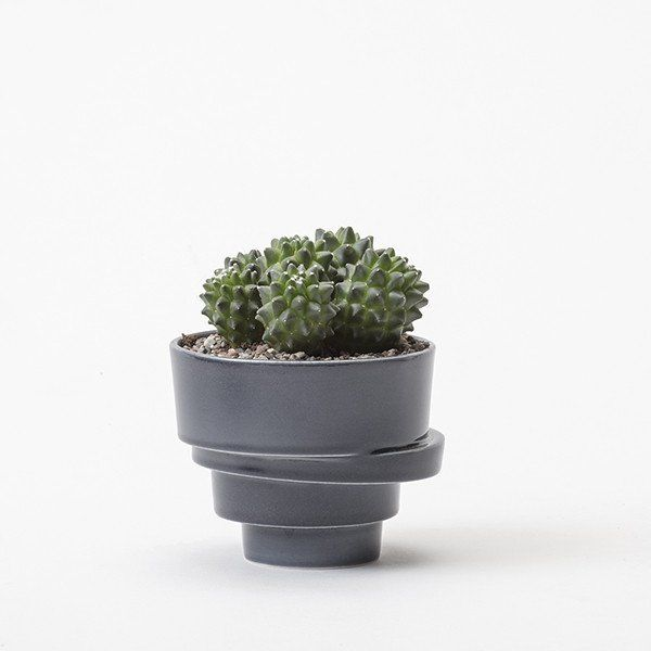 The small stacked flowerpot (glazed)