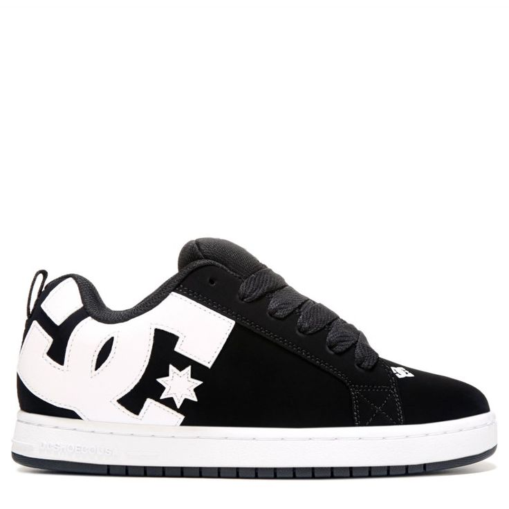 DC Shoes Men's Court Graffik Skate Shoes (Black)