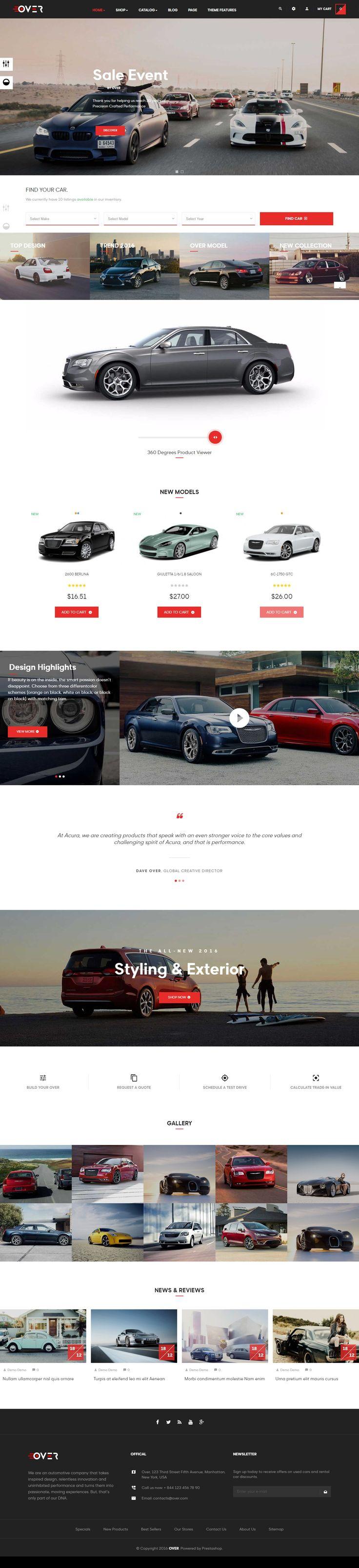 #YesThemes.net - Free download Leo Over Responsive Prestashop Theme This is a #Prestashop #theme for #car, #auto, #garage