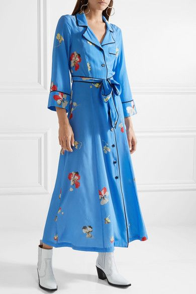 0897a4d6 GANNI | Joycedale floral-print silk crepe de chine maxi dress |  NET-A-PORTER.COM