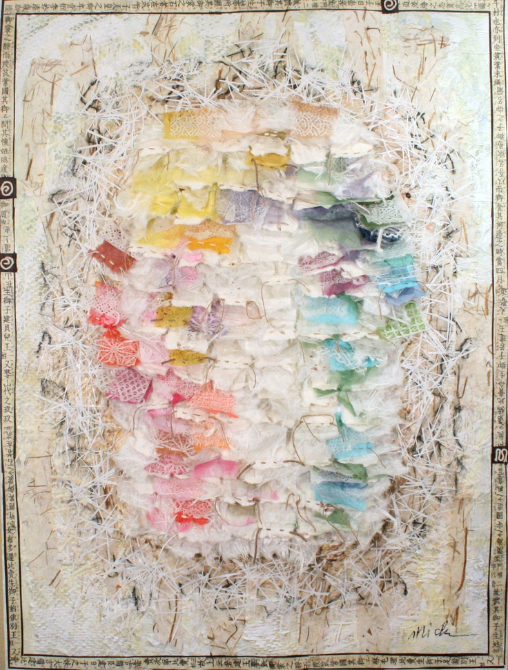 Windsong 406-10 by Michi Susan 40x30 Mixed Media