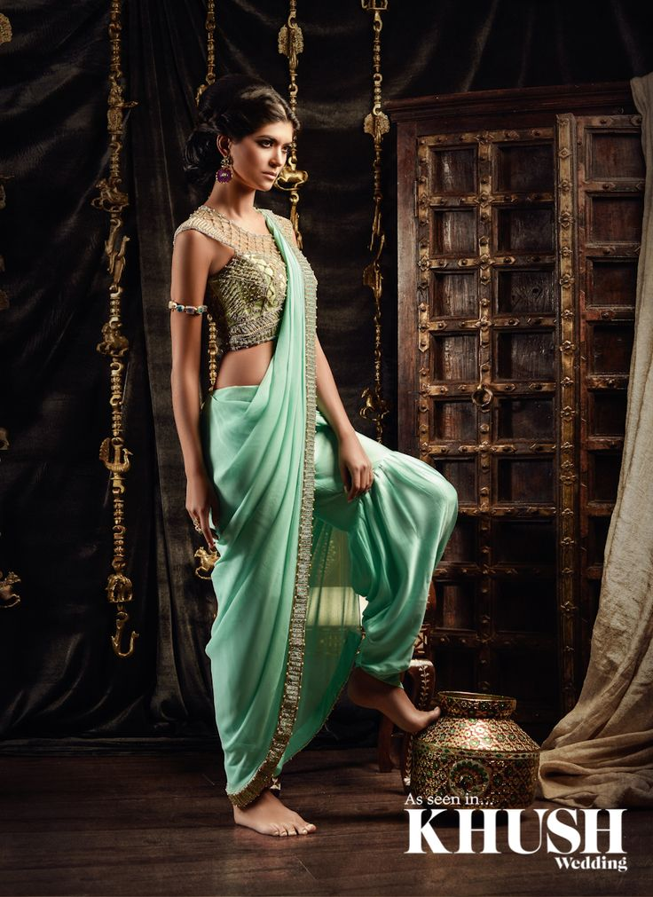 We've fallen for this dhoti saree by Este Couture BY APPOINTMENT ONLY Call: +44(0)7444 644 029 • +44(0)1784 559 719 Email: store@estecouture.com www.estecouture.com Hair & Makeup: Shazia Khan MUA Jewellery: Este Couture