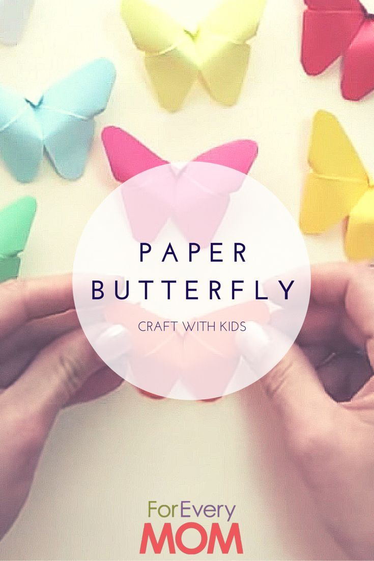 The Kids Will Love This Adorable and Easy Paper Butterfly Craft Tutorial - For Every Mom