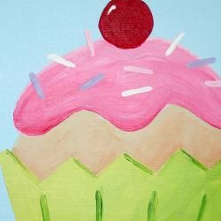 cupcake painting. Maybe my first painting project?