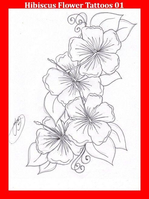 Hibiscus Flower Tattoos 01