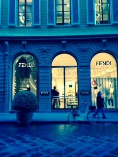 The Fendi Boutique in Florence!