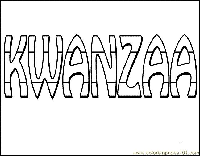 coloring pages kwanzaa - photo#31