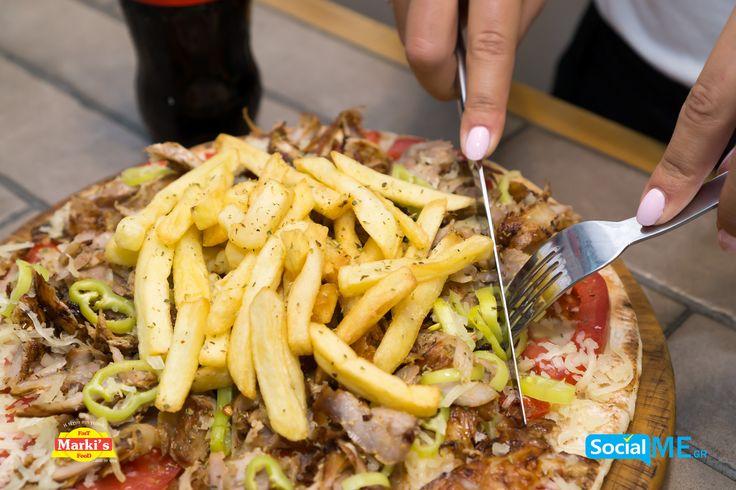 Η περίφημη Πίτα Ανοιχτή 26'' με Γύρο Χοιρινό ή Κοτόπουλο και τριμμένη Gouda ψιλοκομμένη ντομάτα & πράσινη πιπεριά & πατάτες.. Παραγγελία Online: www.markisfood.gr με -30% στην πρώτη σου παραγγελία..!!! #MarkisFood #Food #Thessaloniki
