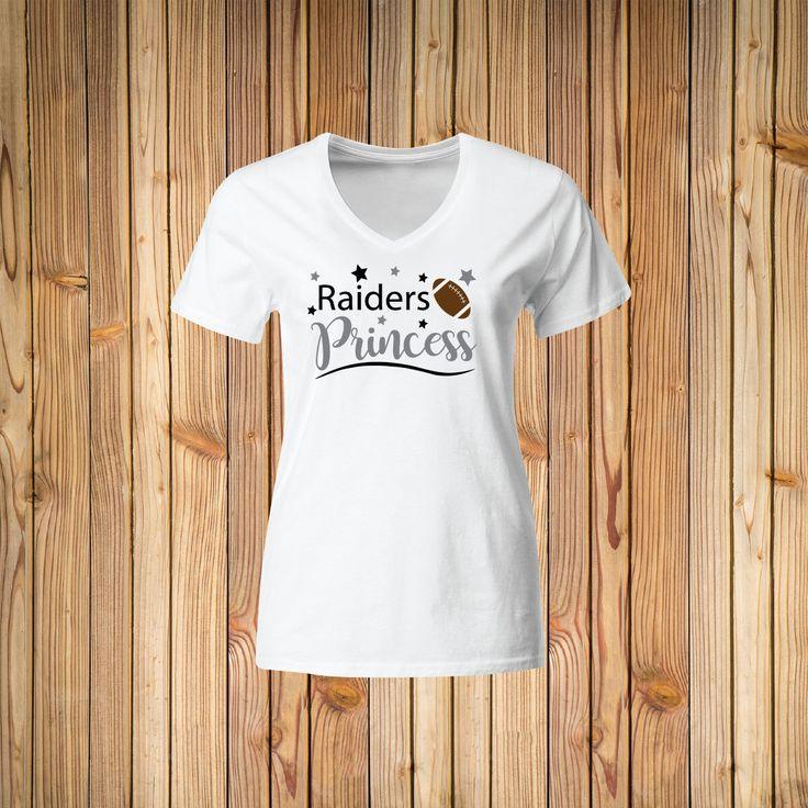 Raiders Princess V-neck shirt, Oakland Raiders Shirt, football shirt, woman shirt, football tee, football tshirt, ladies shirt, raiders tee by PinkTutusAndBows on Etsy https://www.etsy.com/listing/525738662/raiders-princess-v-neck-shirt-oakland