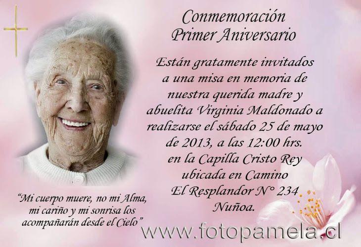 Primer Aniversario Del Fallecimiento De La Señora Ayda Rosa