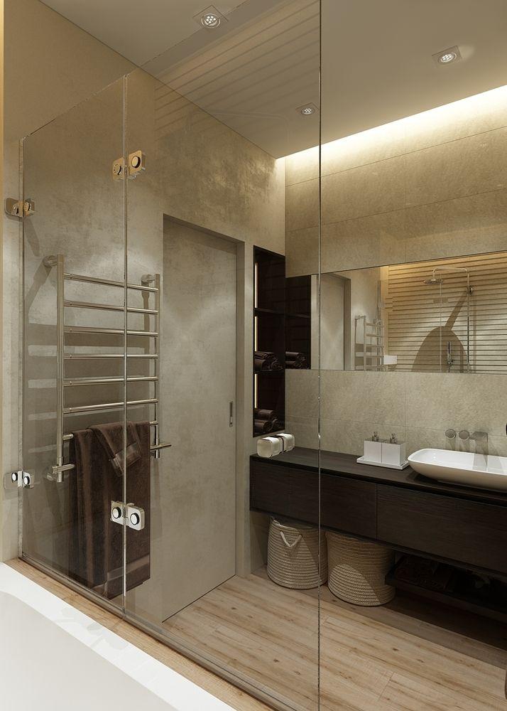 Фото из портфолио Квартира в теплых тонах - Ванная комната – фотографии дизайна интерьеров на InMyRoom.ru