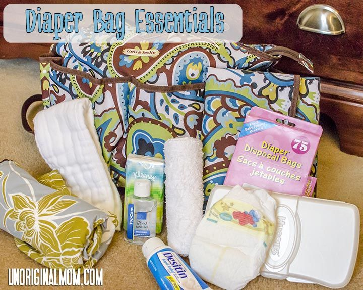 Diaper Bag Essentials with Printable PDF Checklist | unOriginalMom.com  #babychecklists #diaperbag