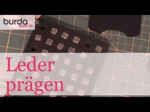 burda style – Leder prägen - YouTube