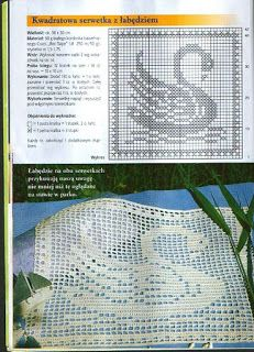 Schwan Deckchen Filet häkeln - Crochet doily swan