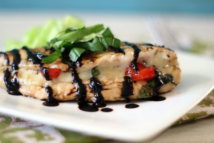Caprese Stuffed Chicken Breasts - A tender, grilled chicken breast ...