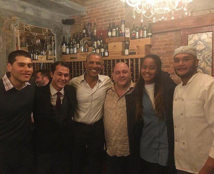 barack and malia obama dinner date in NYC