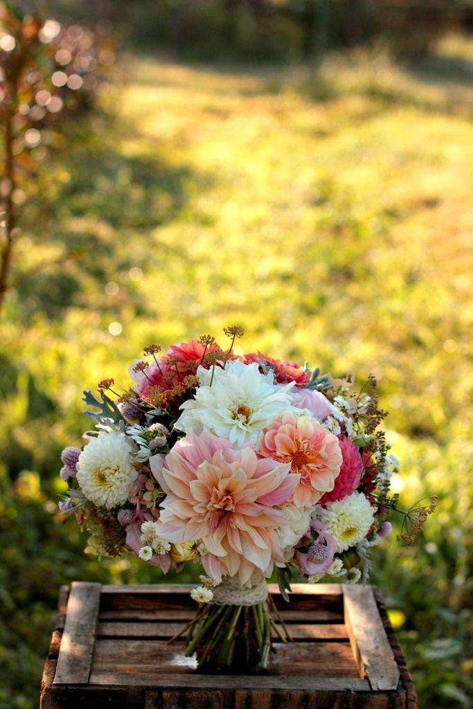 September bouquet (Because Dahlias are handier to get in autumn. Fun bouquet)