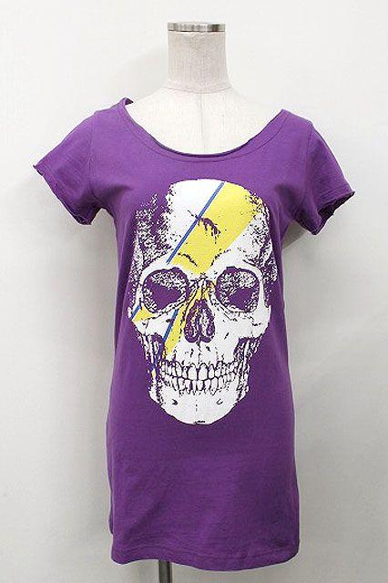 コンディションアイテム説明状態全体的な着用感(シワ、ヨレ、毛羽立ち、くすみ)と左サイドウエスト付近に数ヶ所の汚れ、首まわり・両袖口まわりに丸まり・汚れがございます。カラー紫×白×黄素材綿アイテムサイズ…